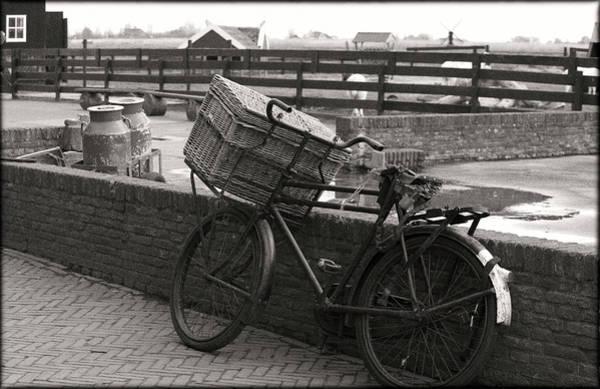 Milk Farm Photograph - An Old Fashioned Bike With Basket by Sheila Haddad