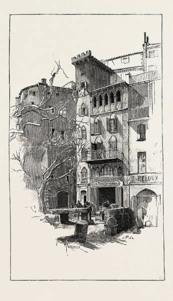 Old Style Drawing - An Old House In Grasse France by French School