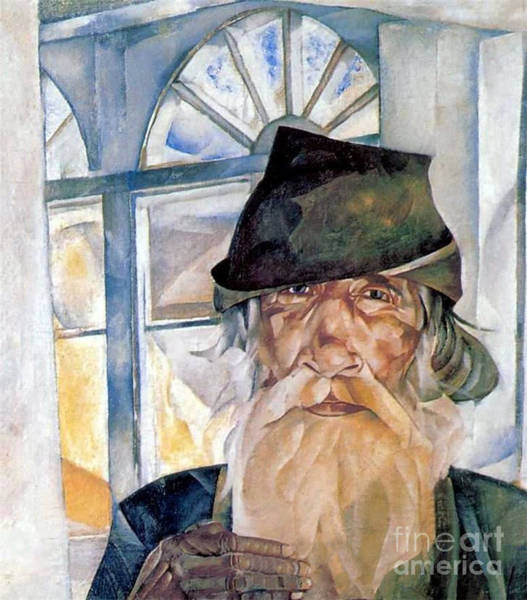 Russian Impressionism Wall Art - Painting - An Old Man From Olonets by Celestial Images