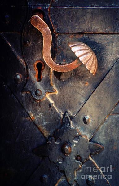 Photograph - An Old Metal Decorated  Door Handle by Jaroslaw Blaminsky