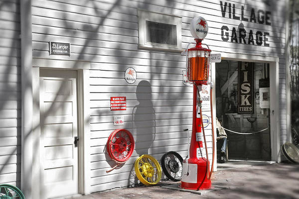 Vehicles Wall Art - Photograph - An Old Village Gas Station by Mal Bray