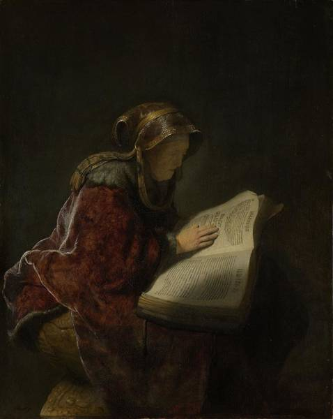 Baroque Photograph - An Old Woman Reading, Probably The Prophetess Hannah, 1631 Oil On Panel by Rembrandt Harmensz. van Rijn