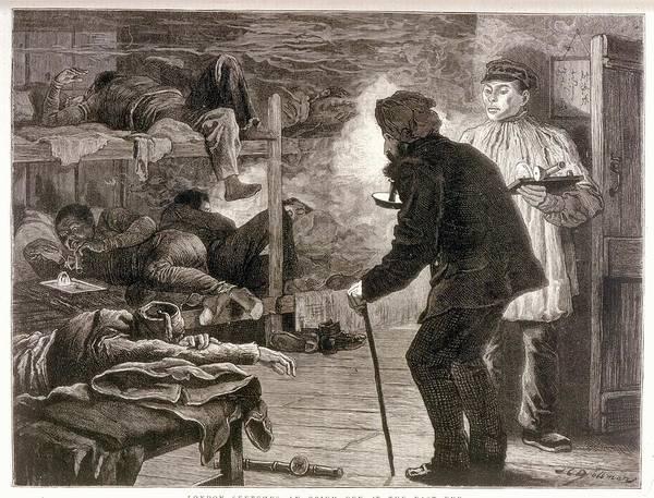 An Opium Den In London's East  End - Art Print