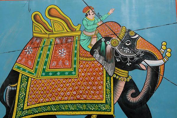 Wall Art - Photograph - An Outdoor Mural In Jodhpurs Blue City by Steve Winter