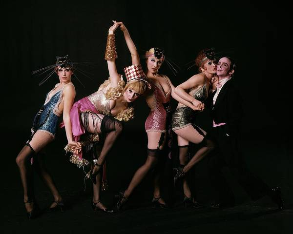 Photograph - An Outtake Of Joel Grey With The Kit Kat Girls by Bert Stern
