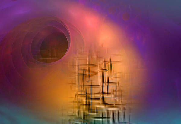 Fractal Landscape Digital Art - An Unexpected Result by Phil Sadler