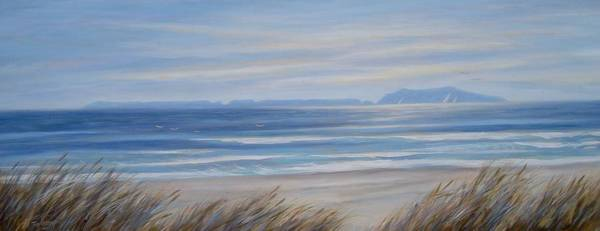 Oceanscape Painting - Anacapa Island Just Before Sunset by Tina Obrien