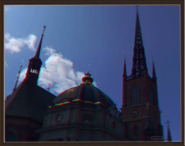 Anaglyph Photograph - Anaglyph Church by Ramon Martinez