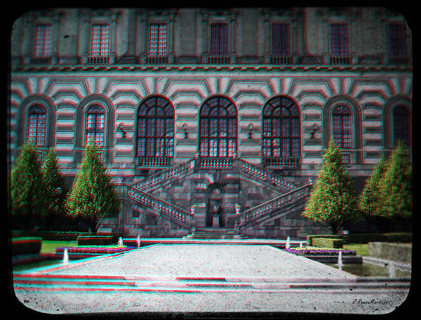 Anaglyph Photograph - Anaglyph Garden Of The Royal Palace by Ramon Martinez
