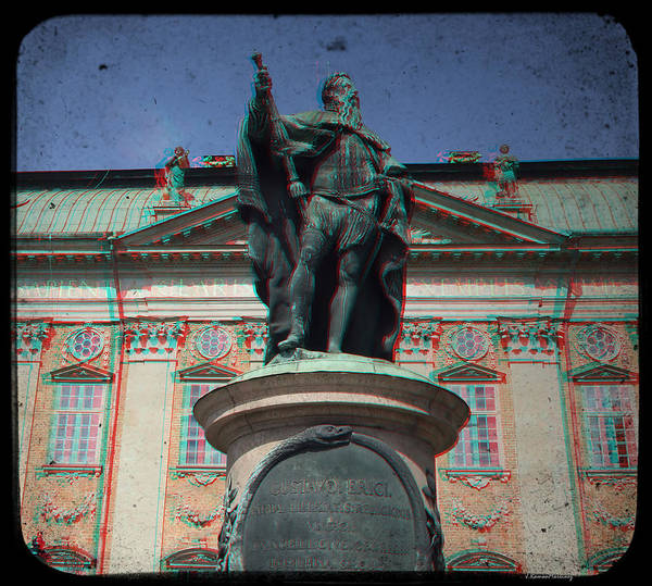 Anaglyph Photograph - Anaglyph King Gustav by Ramon Martinez