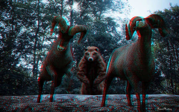 Anaglyph Photograph - Anaglyph Wild Animals by Ramon Martinez