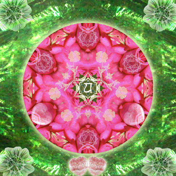 Mixed Media - Anahata Rose by Alicia Kent