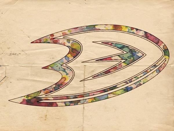 Painting - Anaheim Ducks Logo Art by Florian Rodarte