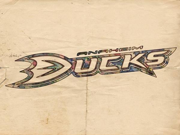 Painting - Anaheim Ducks Poster Art by Florian Rodarte