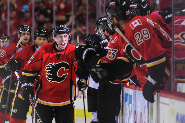 Nhl Photograph - Anaheim Ducks V Calgary Flames - Game by Derek Leung