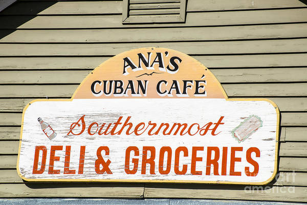 Wall Art - Photograph - Ana's Cuban Cafe Key West by Ian Monk
