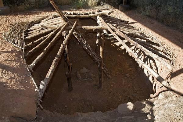 Anasazi Ruin Photograph - Anasazi Pit House by Jim West