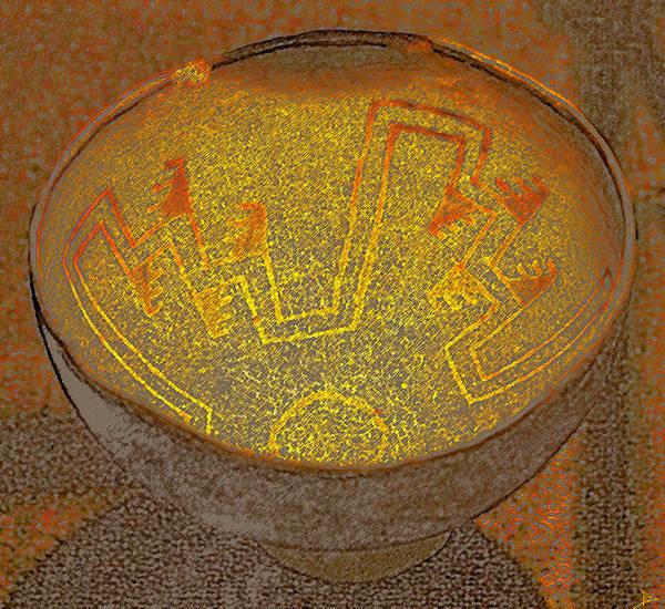 Anasazi Painting - Anasazi Bowl Lost Pattern by David Lee Thompson
