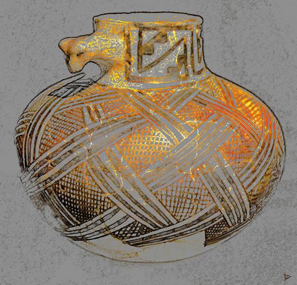 Anasazi Painting - Anasazi Bowl With Animal Head by David Lee Thompson