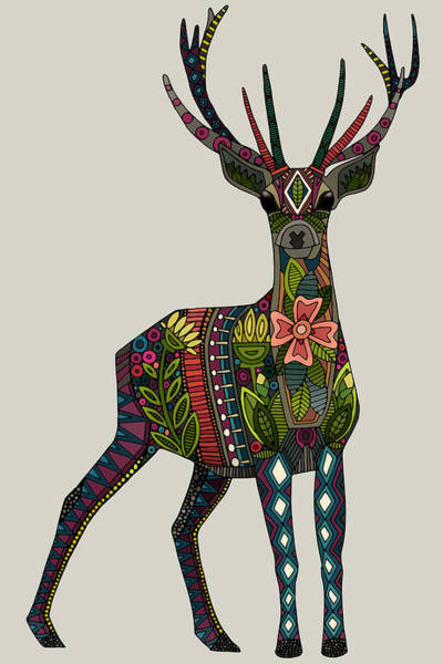 Wall Art - Painting - Anatopik Deer by MGL Meiklejohn Graphics Licensing