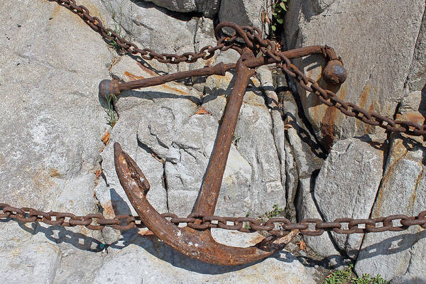 Photograph - Anchor And Chains by Tony Murtagh