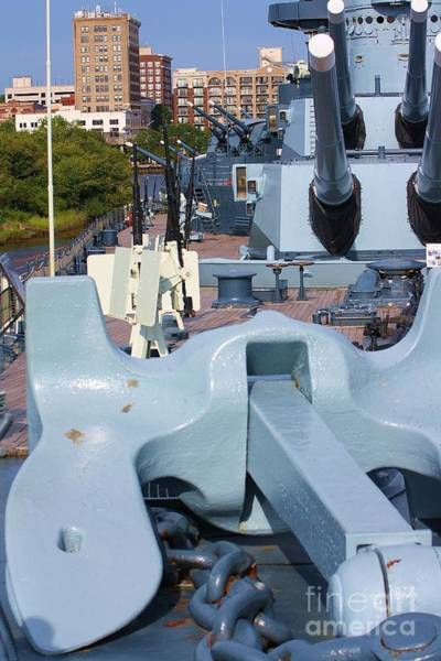 Floating Museum Photograph - Anchor And Guns by Chuck  Hicks