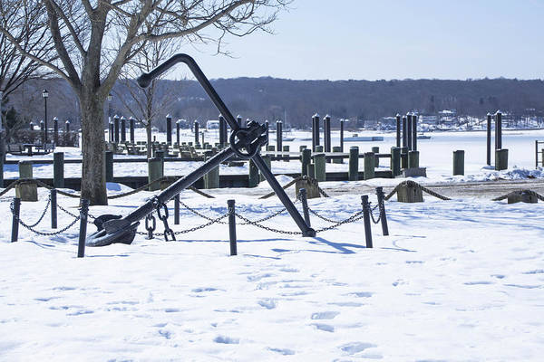 Photograph - Anchor And Snow In Northport by Susan Jensen