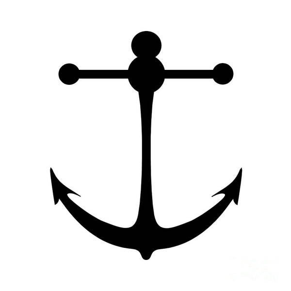 Parts Of A Boat Digital Art - Anchor In Black And White by Jackie Farnsworth