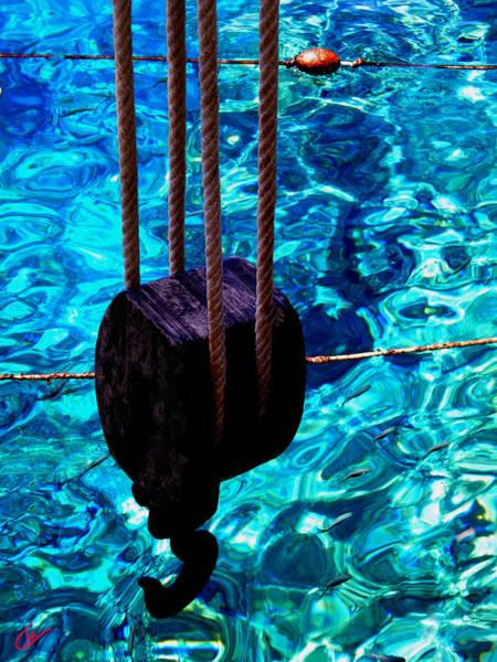 Photograph - Anchor In Santorini Island Greece  by Colette V Hera  Guggenheim