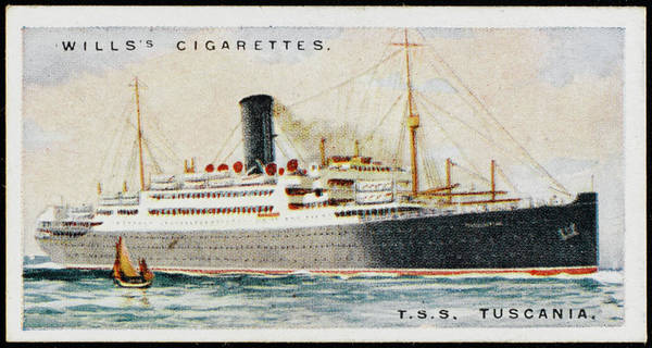 1924 Drawing - Anchor Line Passenger Ship  Saling by Mary Evans Picture Library