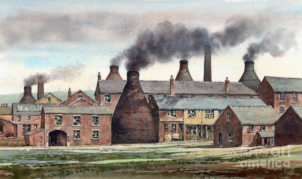 Wall Art - Painting - Anchor Road Pot Works by Anthony Forster