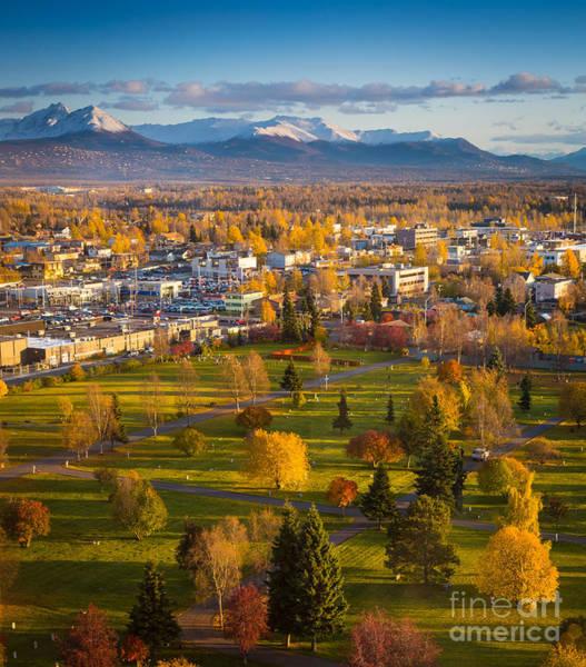 Alaskan Photograph - Anchorage Landscape by Inge Johnsson