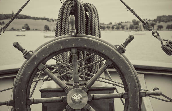 Handle Photograph - Anchored In Harbour by Shaunl