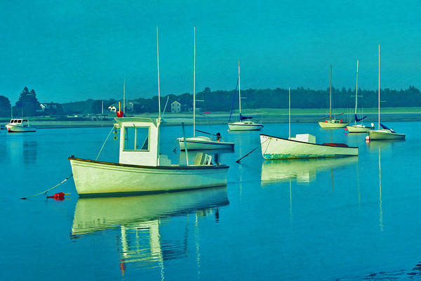 Photograph - Anchored In Maine by Gary Slawsky