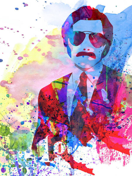 Wall Art - Painting - Anchorman Watercolor 2 by Naxart Studio