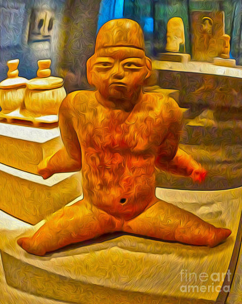 Painting - Ancient Alien Baby Man by Gregory Dyer