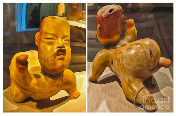 Painting - Ancient Alien Piggy Bank by Gregory Dyer