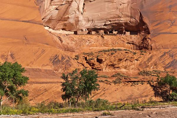 Photograph - Ancient Anasazi Pueblo Canyon Dechelly by Bob and Nadine Johnston