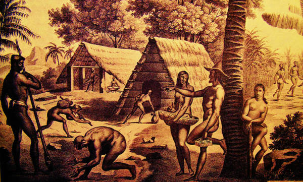 Mixed Media - Ancient Chamorro Society 1 by Michelle Dallocchio