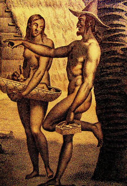 Mixed Media - Ancient Chamorro Society 2 by Michelle Dallocchio