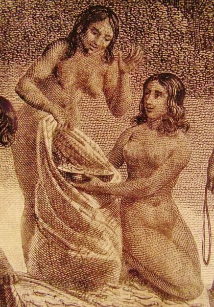 Mixed Media - Ancient Chamorro Women by Michelle Dallocchio
