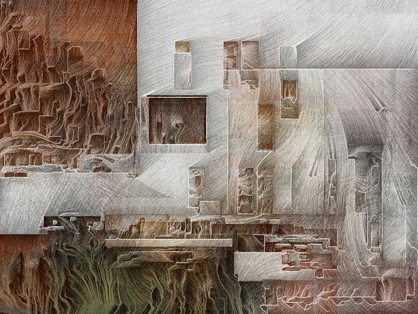 Digital Art - Ancient City 1 by David Hansen