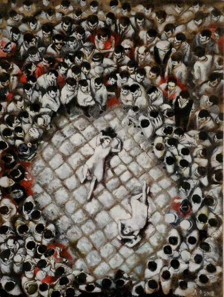 Print On Demand Wall Art - Painting - Ancient Dancers Of The Tarantula Dance by Alessandra Andrisani
