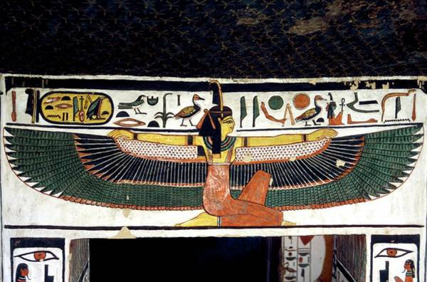 Hieroglyph Photograph - Ancient Egyptian Goddess Ma'at by Patrick Landmann/science Photo Library