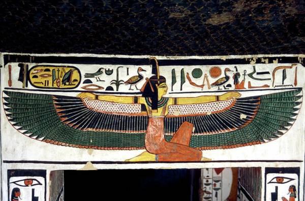 Wall Art - Photograph - Ancient Egyptian Goddess Ma'at by Patrick Landmann/science Photo Library