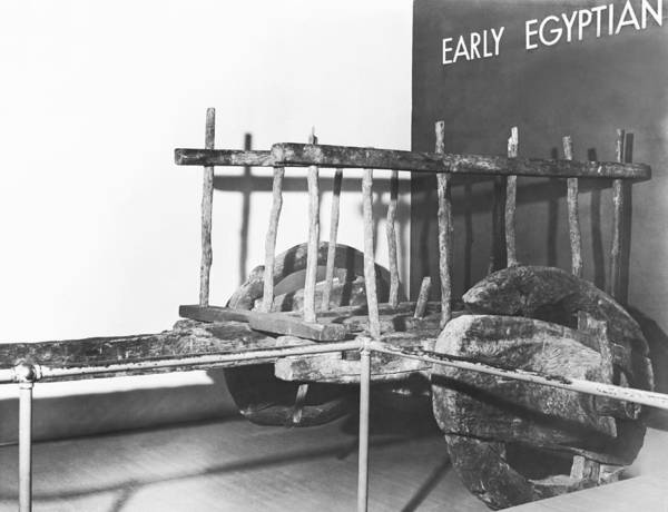 Offering Photograph - Ancient Egyptian Ox Cart by Underwood Archives