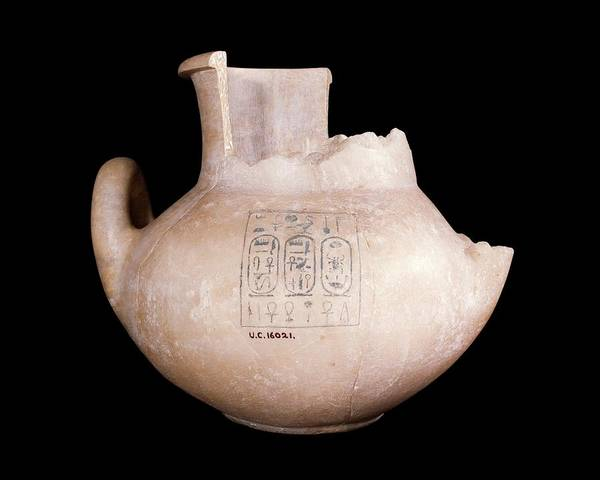 Alabaster Photograph - Ancient Egyptian Stone Jar by Petrie Museum Of Egyptian Archaeology, Ucl