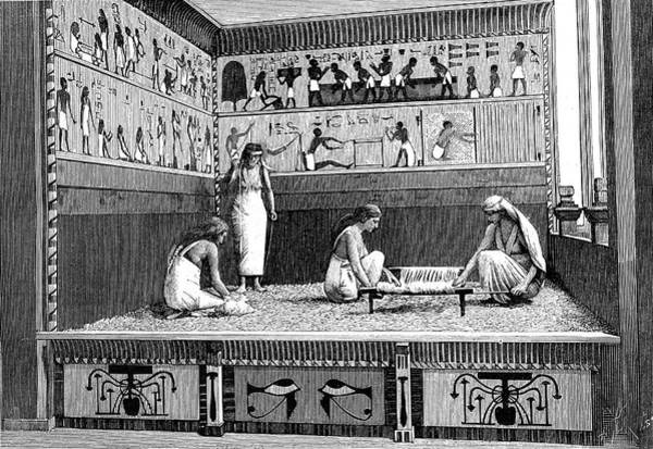 1889 Photograph - Ancient Egyptian Textile Workers by Collection Abecasis/science Photo Library