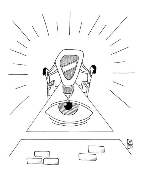 Egypt Drawing - Ancient Egyptians Drop Eye Drops Into An Ancient by Dan Abromowitz Eli Dreyfus