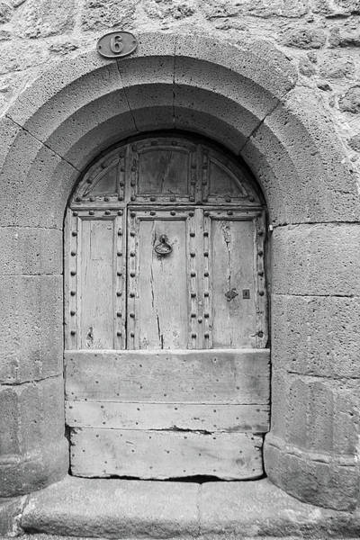 Brick Wall Photograph - Ancient French Door In Pézenas by Violettenlandungoy